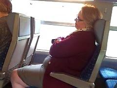 Flash in een trein