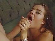 Lexie Süßigkeiten bekommen riesige Gesichtsbesamung Dusche von Monsterschwanz