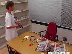 MILF Nurse Sexy Stockings Office Fucked Two Doctor