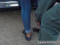 Mofos pervertidos en patrulla morena, detenido por una cavidad