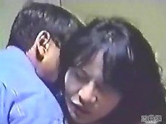 Amateur Asian babe strips and gives great blowjob