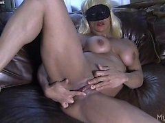 Slave Lauren Rubs Her Wet Pussy and Big Clit