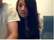 Chinesen Couple Mess Around auf Webcam