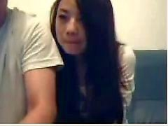 Chinesen Couple Mess Around auf Webcam