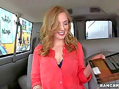 Karla Kush strips down to her panties in the backseat