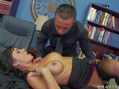 Busty spy Gia Dimarco gives it to Keiran Lee