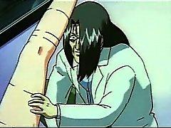 Oben gebunden Hentai sex slave bekommt Pussy lecken und harte nagelte