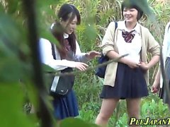 Kinky asian students pee