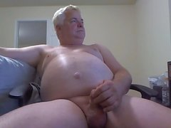 Opa Sperma vor der Webcam