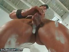 Muscled Homosexuell großes Stück Rob Diesel Ruckeln