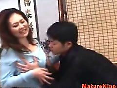 Japanese mature MILF masturbating