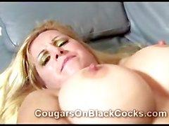 2 huge black cocks must please huge stacked cougar Friday