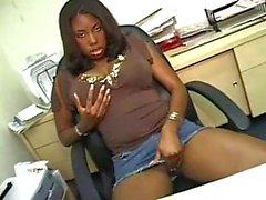 Amateur office sex with ebony bitch