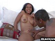 Deep banging with Ebony babe Lexi Doll and stiff black dick