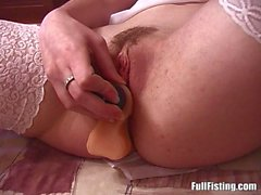 Smallboob Brunette Teen Anal Fucked And Pussy Fist