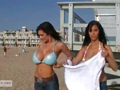 Denise Milani Jaime Hammer beach day
