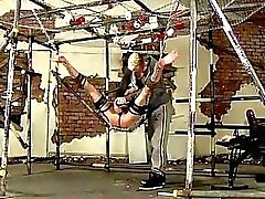 Gay jocks The strung up dom has a need to jack out the spunk from his