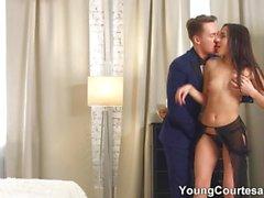 Young Courtesans - Fucking cum into courtesan ass