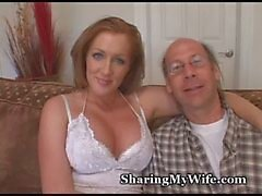 Wussy Hubby Shares Hot Wifey