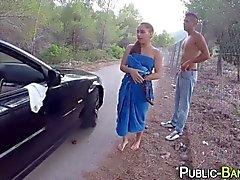 Spanische Schlampe Reiten öffentlichen