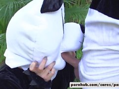 Nicole Aniston y Lucas Frost Estilo Panda