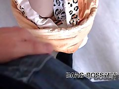 BANG yazılım BOSS - 18j Nachbarstocher gefickt mit Monstercumshot