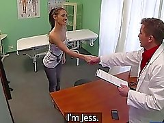 Damn sexy Jess gets fucked by her doctor