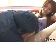 asian maid lusty toying japanese