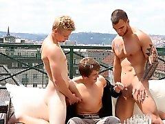 Spannen Ansaugen orgy auf Dach