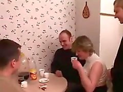 Fat Russian Mom In A Foursome