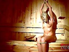 Viktoria Diamanten nackt und dich auf in die Sauna Gefesselt