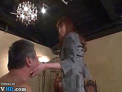 Japanese old stud enjoys coarse sex