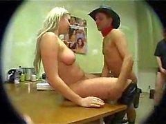 Blonde Prostitute Gang Banged Hard