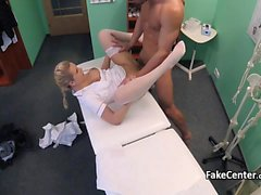White stockings nurse deep fucked