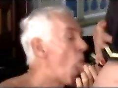 TRANNY gave an tasty cum in mouth GRANDPA