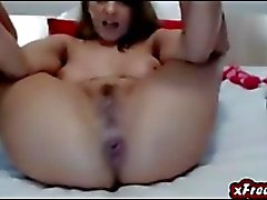 Hot Babe Toys Her Pussy and Her Ass DP