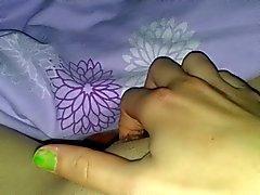 Något håriga fritt - gf fingersättningar clit i orgasm ( POV )