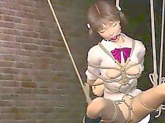 Косичками 3D аниме рабом придает фелляцию
