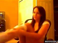 Teen Girl Solo Onani och Striptease 27