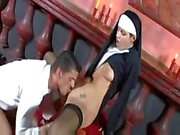 Lucie Theodorova plays a nun who wants to suck and get fucked