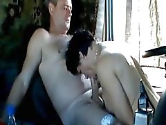 Mature russian couple gets fucked