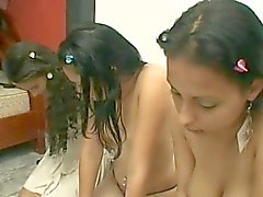 mistress use three lesbian slave