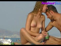 Amateur nudisti Coppia Voyeur Beach Close-Up Video