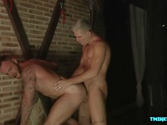 Hairy son domination with cumshot