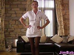 Amateur brit nurse jizzed