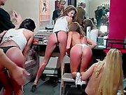 Wet T-Shirt Models Spanked - Scene 4