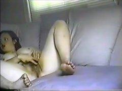 Hairy Hottie Masturbating