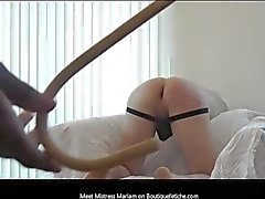 Mistress Mariam Caning Demonstration 8