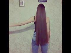Super langhaariger Brunette, langes Haar, Haar