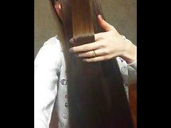 Süper Uzun Saçlı Esmer, Uzun Saç, Saç